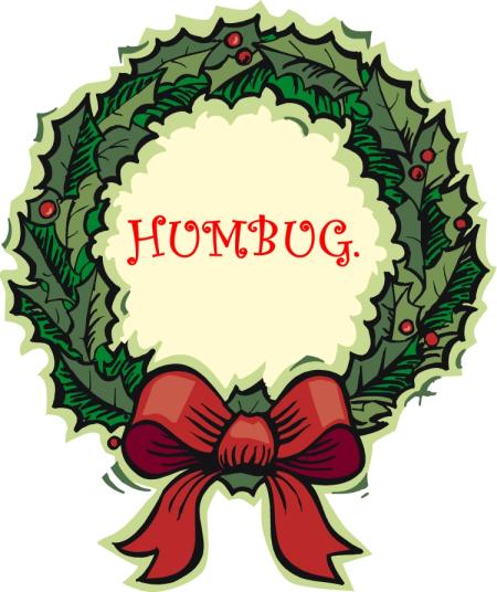 Christmas wreath humbug